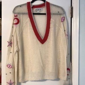 wildfox embellished sweater